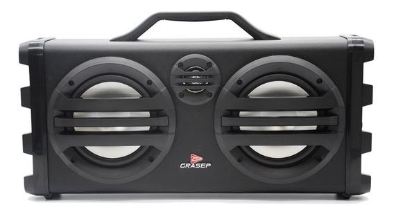 Caixa De Som Portátil Bluetooth 30w Microfone Fm Usb Sd P10