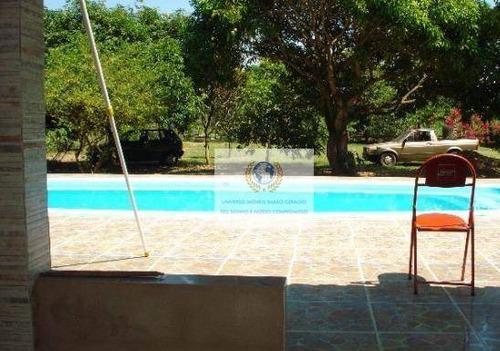 Chácara Com 3 Dormitórios À Venda, 12000 M² Por R$ 750.000,00 - Loteamento Chácaras Vale Das Garças - Campinas/sp - Ch0016