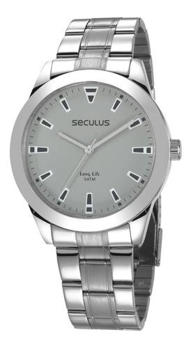 Relógio Masculino Seculus Long Life Prateado + Garantia + Nf