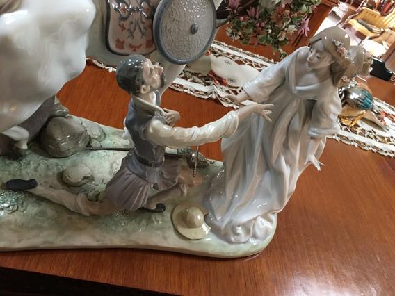 Figura Don Quijote Y Dulcinea En Porcelana Lladró