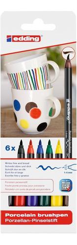 Set Marcador Para Cerámica Colores Surtidos Edding 4200 X6 U