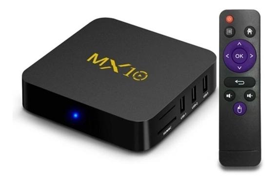 Tvbox Mx 10 - Sua Tv Em Smat - Android 8.1 4k Pro 4gb/32gb