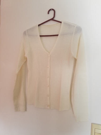 Sweater/campera Tejida, Color Natural, Talle S