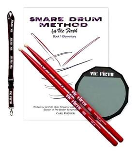 Pad De Practica 6 Vic Firth, Incluye Accesorios Musicplay