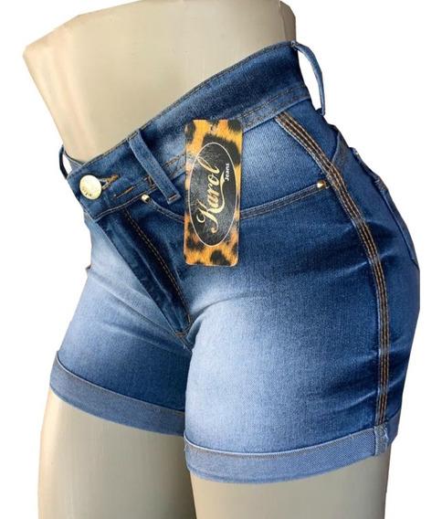 Kit 3 Short Jeans Feminino Cintura Alta