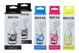 Kit X5 Refill Canon Gi190 G2100 G3100 G4100 G2110 G3110
