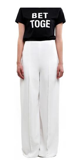 Pantalón Mujer Ancho Envío Gratis Cobre , Blanco Lob