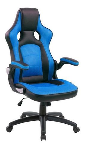 Imagen 1 de 1 de Silla de escritorio AyP Equipamientos Moscú gamer ergonómica  azul y negra