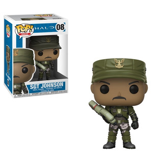 Funko Pop Sgt Johnson 08 Halo Muñeco Coleccionable