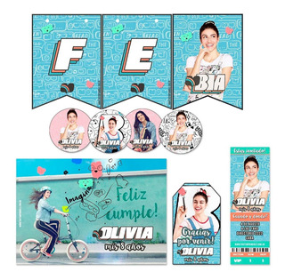 Kit Imprimible Bia Candy Bar Personalizado Completo