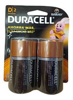 Pilas D Grande Alcalinas Duracell X 2 Unidades