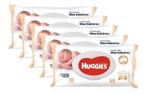 Toallas Humedas Huggies C/ Oleo Calcareo Deluxe X48 Pack X 5
