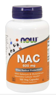 Nac N Acetilcisteina Now Foods 600mg 100 Caps