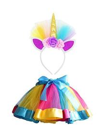 Lylkd - Faldas De Tutú Con Diseño De Arcoíris Y Unicornio