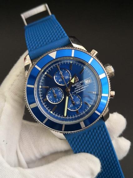Relógio Modelo Superocean Azul Cronógrafo