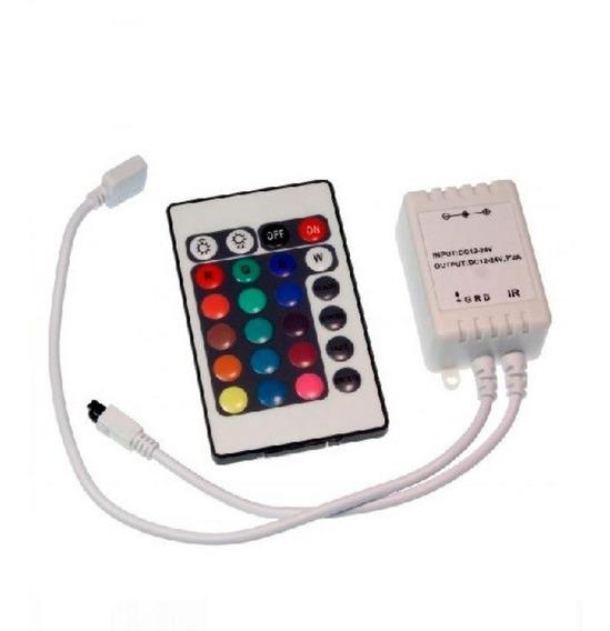 Controlador Controle 24 Teclas Para Fita Led Rgb 5050 E 3528