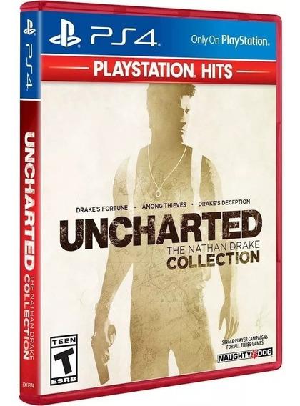 Jogo Uncharted: The Nathan Drake Collection Ps4, Português, Lacrado