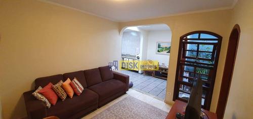 Sobrado Com 4 Dormitórios À Venda, 161 M² Por R$ 590.000,00 - Jardim Lavínia - São Bernardo Do Campo/sp - So0667