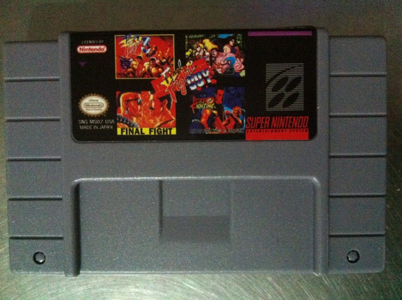 Cartucho Final Fight 1 Guy 2 3 Collection Snes Paralelo