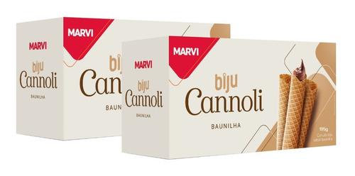 Kit Casquinha Biju Cannoli Marvi 390g - 2cx 60un