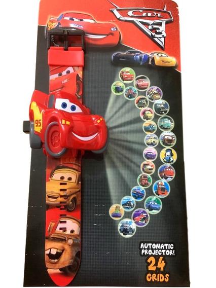 Relógio Infantil Carros 3 Projetor Imagem Brinquedo