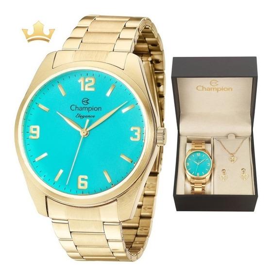 Relógio Champion Feminino Kit Cn26046y Com Nf