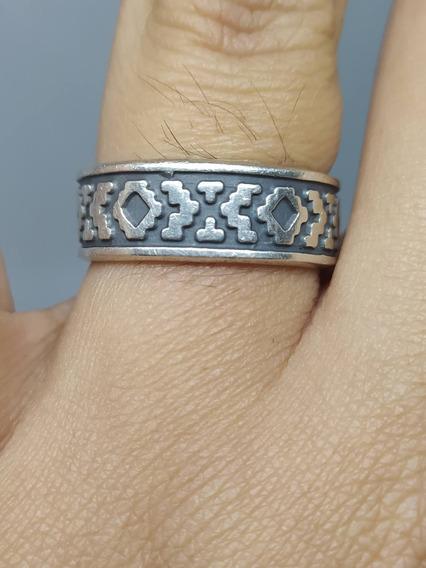 Anel Prata 925 - México - Azteca - Maia