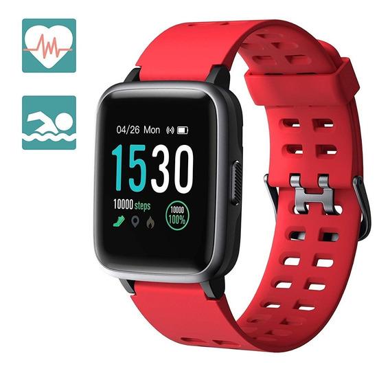 Smartwatch Bluetooth Reloj Inteligente Gps Rastreador Rojo