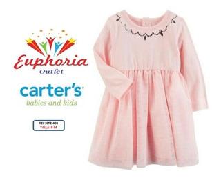 Vestido De Carters Tutut Jersey Talla 9 A 12 Meses