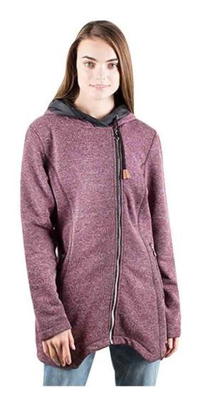 Suéter Mujer Greenlander Sw6742 Largo Jaspeado Con Cierres