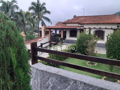 Casa Com 3 Dormitórios À Venda, 283 M² Com Piscina E Churrasqueira - Flamengo - Maricá/rj - Ca3783