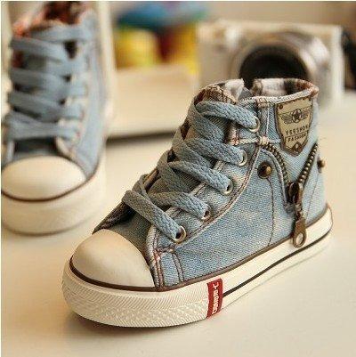 Tênis Infantil Casual Jeans Denim - Unissex