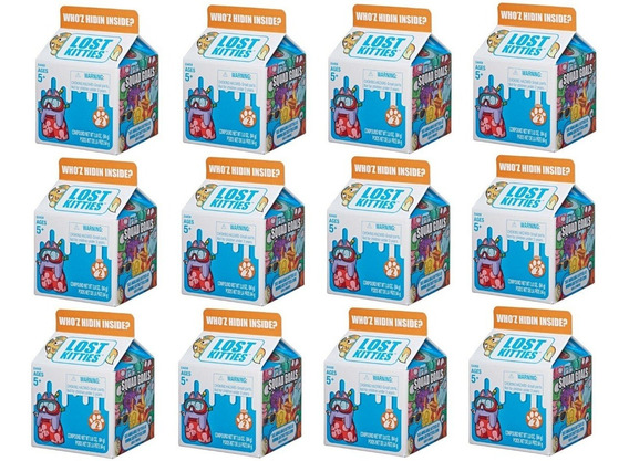 Kit Com 12 Lost Kitties Caixa Surpresa Massinha Hasbro