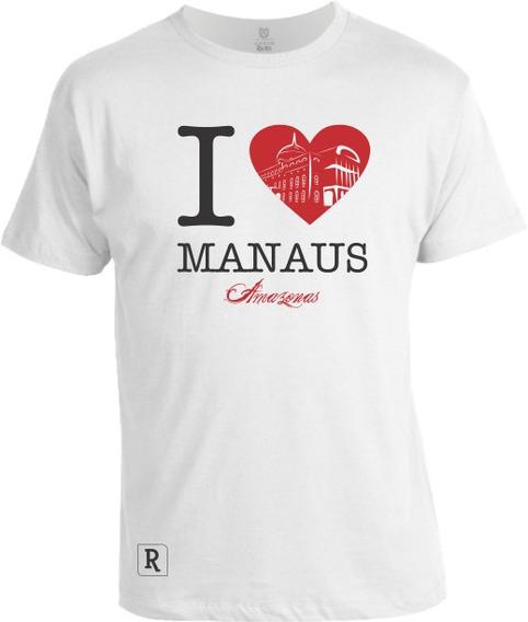 Camiseta I Love Manaus
