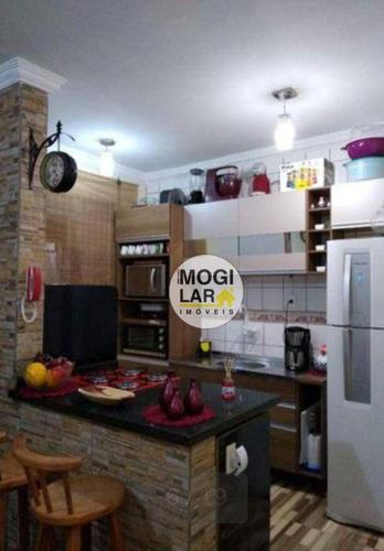 Apartamento Com 2 Dormitórios À Venda, 50 M² Por R$ 202.000,00 - Jundiapeba - Mogi Das Cruzes/sp - Ap0567