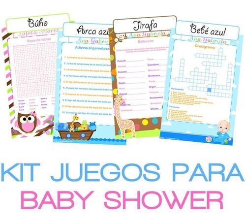 Juegos Baby Shower, Invitaciones, Personalizado