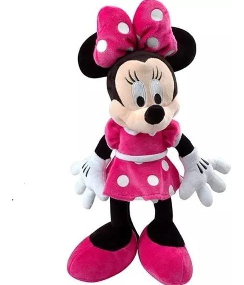 3 Boneca De Pelucia Minnie Laço Rosa Musical