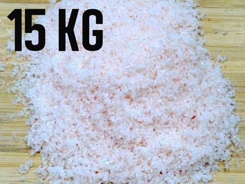 Sal Rosa Do Himalaia Fino Importado Iodado 15 Kg Com Laudo