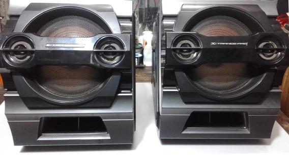 2 Caixas X-trancepro Do Som Sony Genezi Hcd-zx80d/fst-zx-800