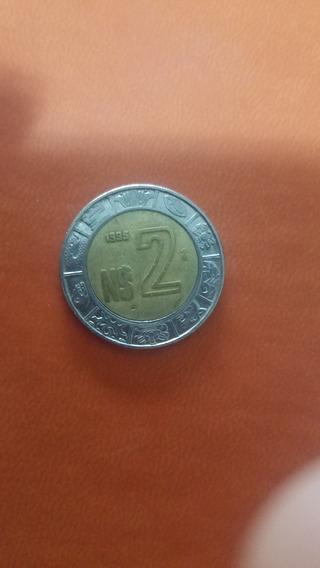 Moneda De 2 Nuevos Pesos 1995 Super Escasa