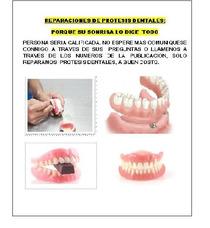 Reparaciones De Protesis Dentales