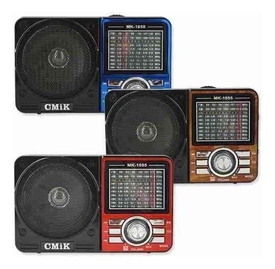 Caixa De Som Portátil Mk 1088 Rádio Analógico Mp3 Usb Am Fm