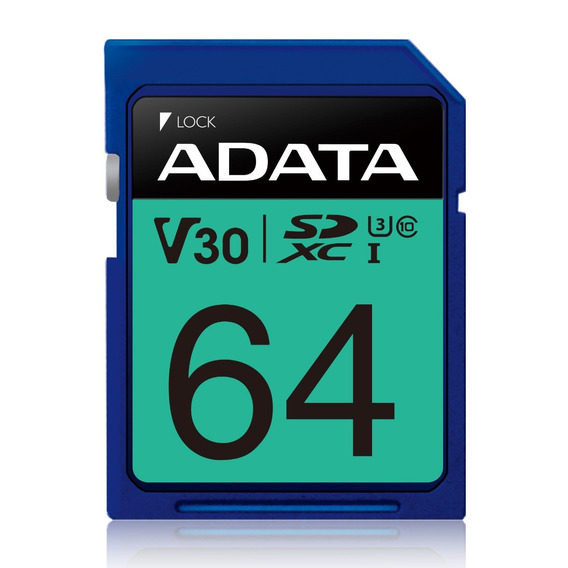 Adata Memoria Sd Camaras Video 64gb Sdxc U3 Clase10 95mbs 4k