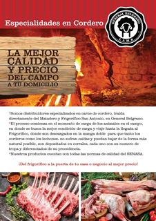 Bifes De Costilla De Cordero Envasado Al Vacio.