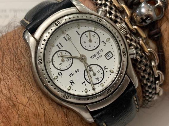 Tissot Chronograph Pr 50 Quartz Sapphire Wr50m Swiss Made