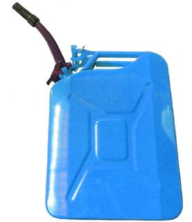 Bidon 20ltrs Metálico Para Combustible Con Pico Anti Derrame