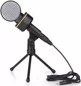 Atacado C/ 10 Microfone P2 Condensador + Tripé P/ Gravação