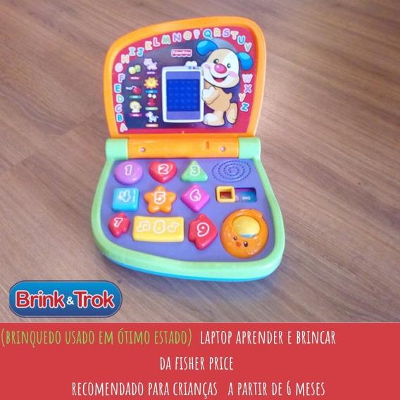 Brinquedo Laptop Aprender E Brincar Para Bebês Fisher Price