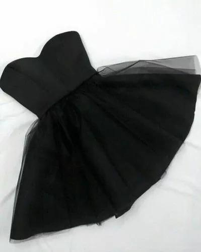 Vestido Corto De Fiesta Con Tull