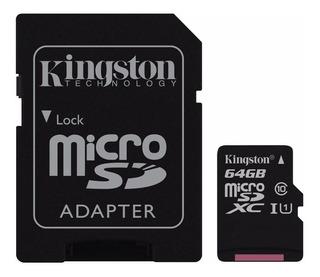 Memoria Micro Sd Xc 64 Gb Kingston Clase 10 Tienda 1